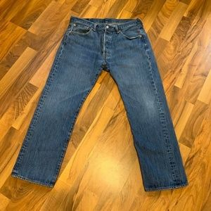 Men's Levi's 501 Denim Jeans Red Tab Button Fly